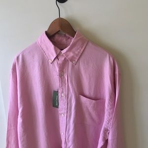 NWT Henry Cotton's Men's Pink Button- Down Shirt